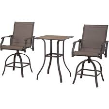 Courtyard Creations Patio Set Courtyard Creations St Thomas 3 Pc Sling Swivel Balcony Set With