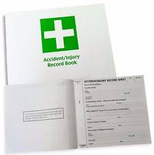 accident reporting book accident book ebay