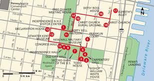 map of philly historical philadelphia walk map