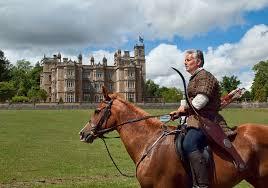 Englefield Berkshire Horseback Archer In Front Of The Elizabethan Englefield Ho U2026 Flickr
