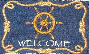 Welcome Doormats Ships Wheel Doormat Coco Mats Coir Mats Coco Mats N U0027 More