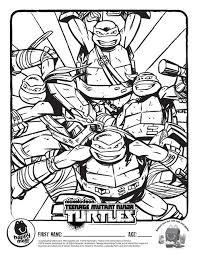 teenage mutant ninja turtles coloring pages teams 6883 teenage