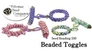 seed bead necklace clasp images How to make beaded toggle clasps seed beading 330 jpg
