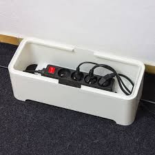 t harger icones bureau the ebox cable tidy box extension wire charger storage
