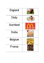 esl worksheets food from around the world