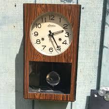 Linden Mantel Clock Linden 31 Day Wind Up Pendulum Wall Clock No 8051 Vintage