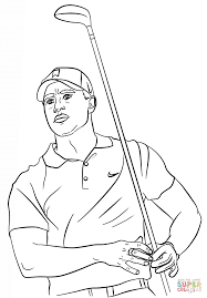 tiger woods coloring page free printable coloring pages