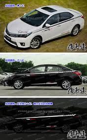 modified toyota corolla body waist garland decorated modified car stickers case for 2014