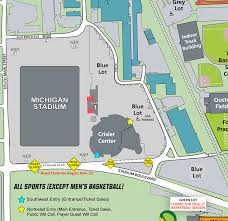 rutgers football parking map of michigan official athletic site
