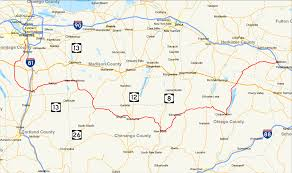 Counties In Ny State Map York State Route 80