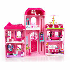 mega bloks barbie build u0027n style luxury mansion play set walmart com