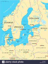 Kcc Map Map Norway Finland Sweden Denmark Stock Photos U0026 Map Norway