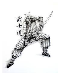 samurai design 2 drawing by kyle adamache