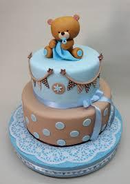 teddy bear cake by violeta glace baby shower pinterest teddy