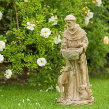 francis of assisi resin garden statue