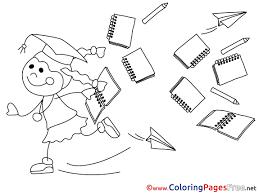 coloring sheets graduation free