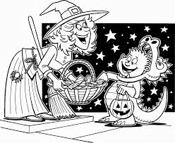 halloween witch coloring pages are you planning to go trick or treating here is a coloring page