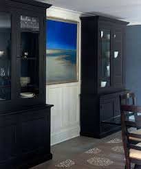 Dining Room With China Cabinet by Black Dining Room Black Breakfront Cabinets With Glass Doors