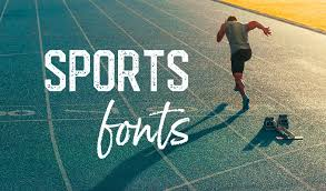 the best sports fonts for athletic designs
