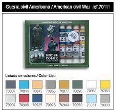 17ml bottle american civil war model color paint set 16 colors
