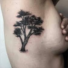 dotwork tree on ribs ideas tatluv tatluv