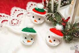 easy snowman ornaments for your tree