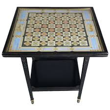 victorian ebonized aesthetic movement two tier chess table at 1stdibs