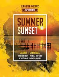template flyer country free freepsdflyer summer sunset beach party free psd flyer template