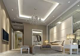 Bedroom Chandelier Ideas Decorations Magnificent Bedroom Ceiling Decoration With Crystal