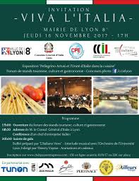 chambre commerce italienne lyon invitation soirée viva l italia le 16 novembre 2017 à 17h à la