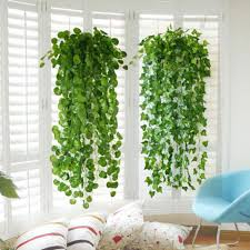 yontree 2 0 meters artificial green ivy vine potato leaves garland