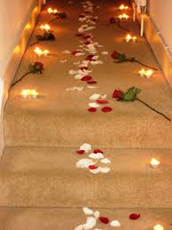 Rose Lights String by Romantic Candles And Roses Bedroom A Rose Petal Path