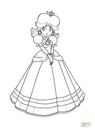 mario bros princess daisy coloring free printable coloring