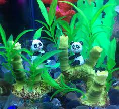 usd 8 13 fish tank simulation panda bamboo leaf aquatic landscape