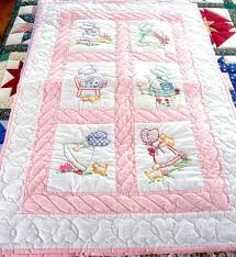 baby quilts to embroider co nnect me