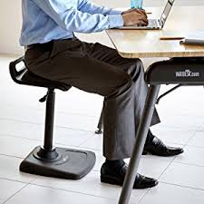 Drafting Chair For Standing Desk Amazon Com Varidesk Adjustable Standing Desk Chair Varichair