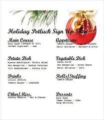 christmas potluck signup sheet template best business plan template