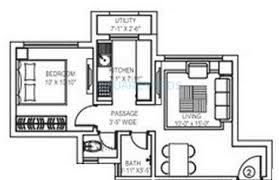 415 sq ft 1 bhk 415 sq ft apartment for sale in gundecha builders asta at rs