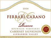 carano reserve cabernet ken s wine review of 2008 carano cabernet sauvignon