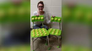 halloween spirit balls teacher creates tennis ball chairs to help students with autism