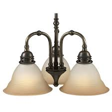 Antique Brass Chandelier Shop Portfolio 3 Light Libbe Antique Brass Chandelier At Lowes Com