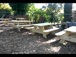 Atwoods Outdoor Furniture - the atwood model under construction picnic tables 2012 youtube