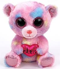paris multi colored ty beanie boo 6