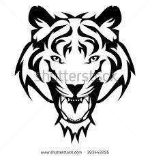 beautiful tiger tattoovector tigers design stock vector