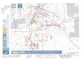 Writing Maps Plan Documents And Maps U2013 Houston Bike Plan