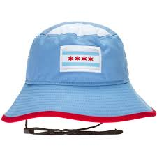 Chicagos Flag Chicago Flag Drawstring Light Blue Bucket Hat