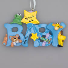 ornaments baby blue ornament spells baby