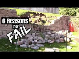 how to build a retaining wall and 6 reasons they fail youtube