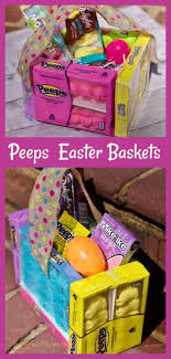 diy easter basket ideas how to peeps candy diy easter baskets full tutorial