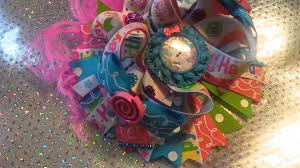 boutique hair bows musical happy birthday boutique hair bow by q s boutique